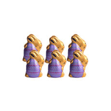 Dark Chocolate Bunnies, Foil Wrapped, Set of 6, 4 oz. each