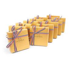 4 pc. Gold Favor (Set of 12) - Patriotic Ribbon