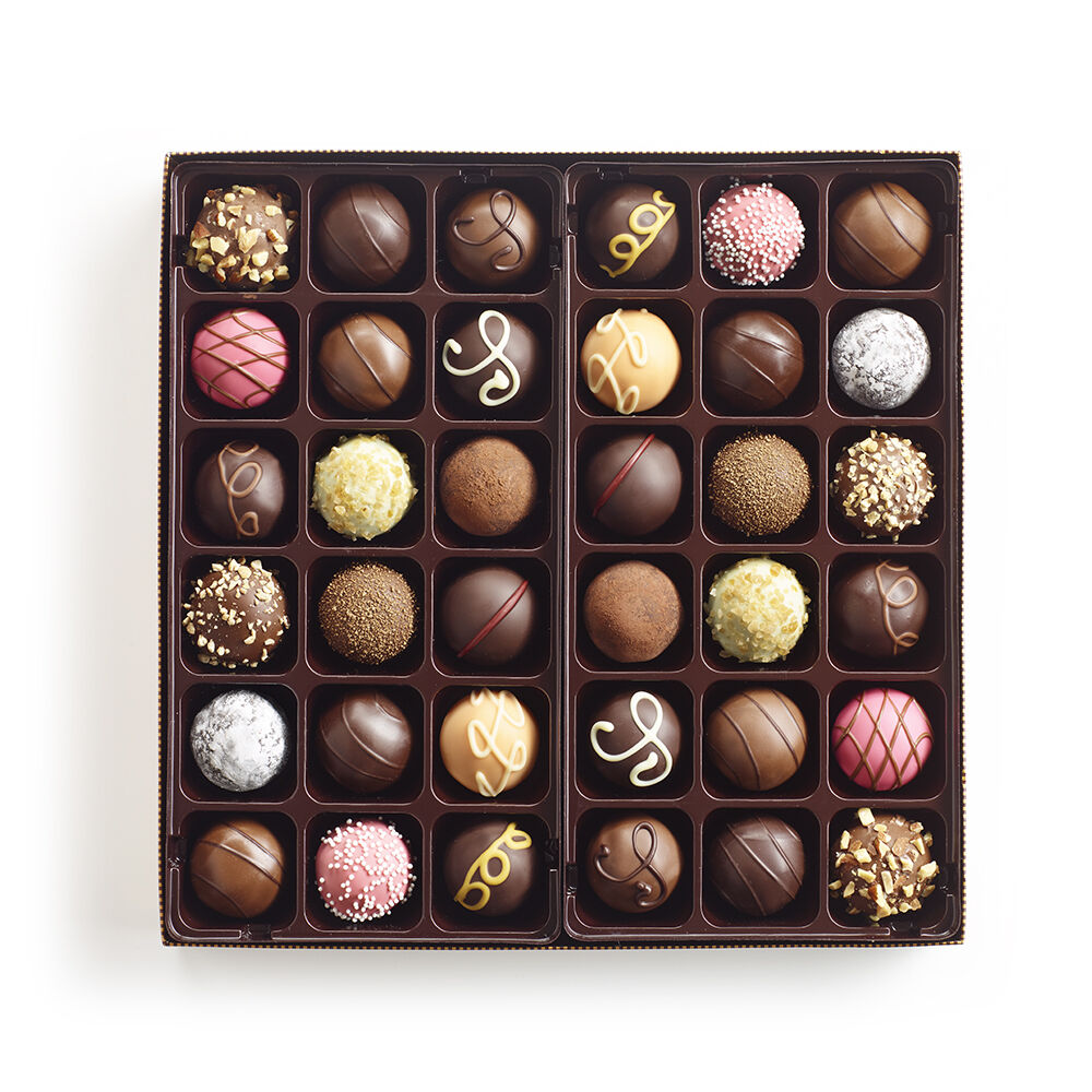 Signature Chocolate Truffles Gift Box, Classic Ribbon, 36 pc.