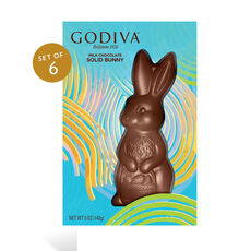 Milk Chocolate Bunny, Set of 6