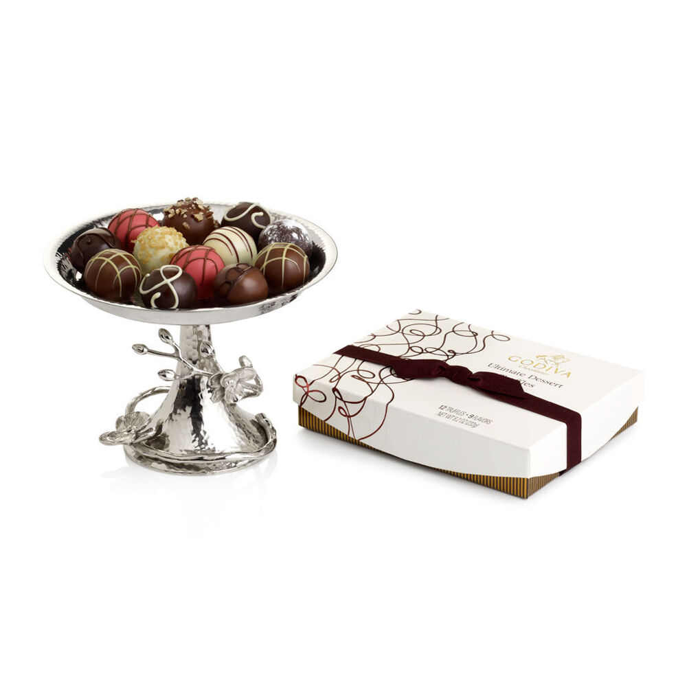 White Orchid Dessert Gift Set Featuring Michael Aram