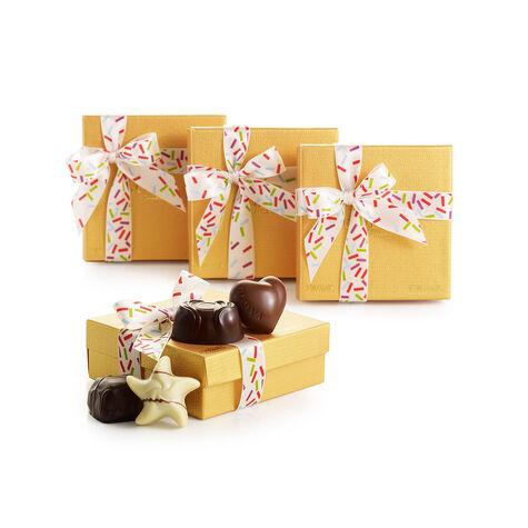 4 pc. Gold Favor - Celebration Ribbon (Set of 4)