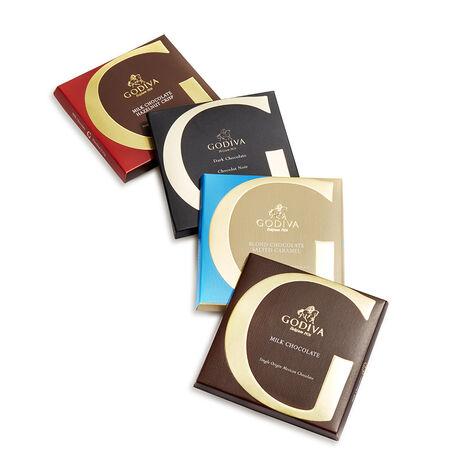 Artisan Chocolate Bar Top Sellers Gift Set, Pink Ribbon, 4 pc.