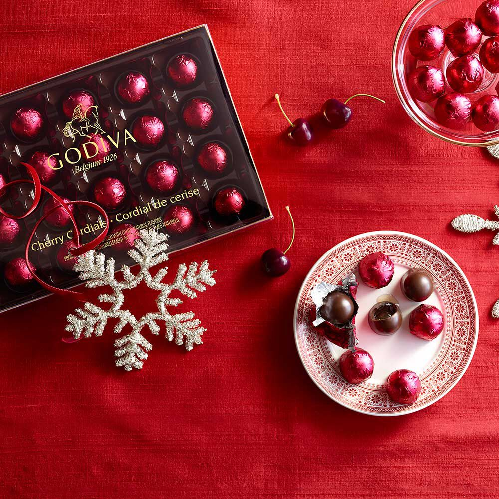 Chocolate Cherry Cordials, 6 pc.