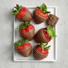 Milk Chocolate Covered Strawberries, Half Dozen