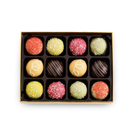 12 pc. Assorted Smoothie & Sorbet Truffle Box