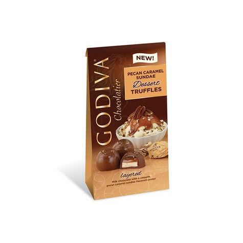 Pecan Caramel Chocolate Truffles, Wrapped, Set of 6