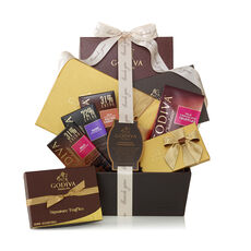 Chocolate Connoisseur Basket, Thank You Ribbon