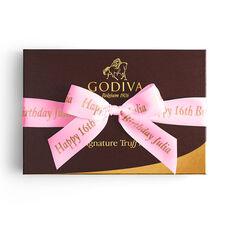 Signature Truffles Gift Box, Personalized Hot Pink Ribbon, 24 pc.