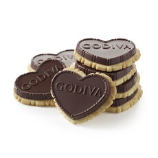 Dark Chocolate Heart-Shaped Biscuit, 12 pc.