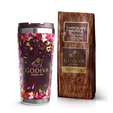 Godiva Tumbler with Truffle Coffee, Ground 10 oz.