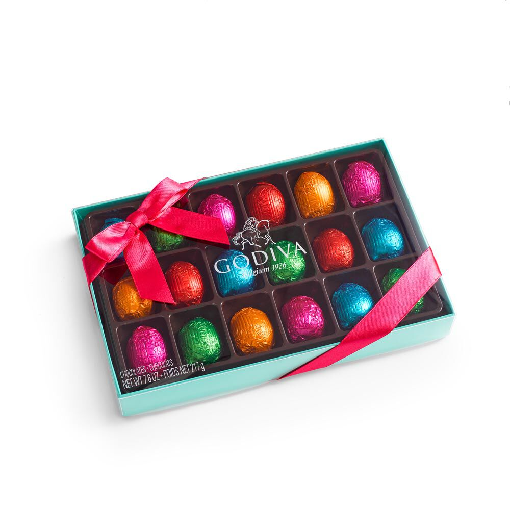 Assorted Chocolate Eggs Gift Box, Individually Wrapped, 18 pc.