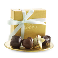 Assorted Chocolate Gold Favor, Mint Ribbon, 4 pc.