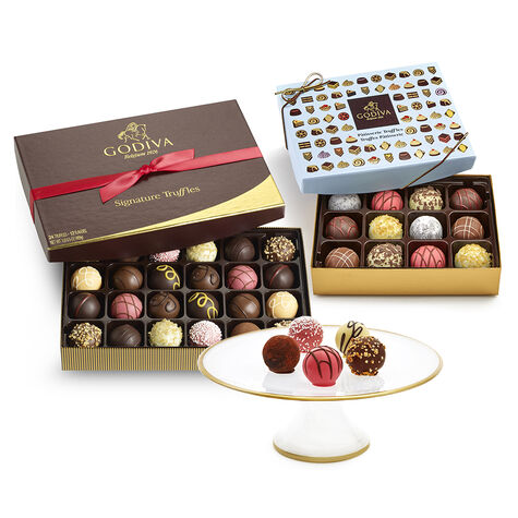 Dessert Pedestal & Chocolate Truffle Tasting Gift Set
