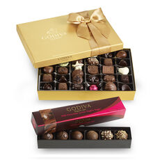 36 pc. Gold Ballotin & Milk Chocolate Lovers Truffle Flight