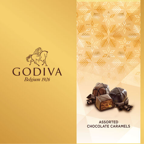 Assorted Caramel Chocolate Gift Box, Holiday, 9 pc.