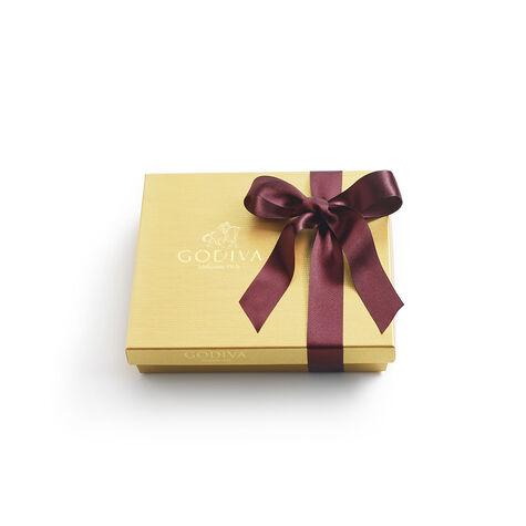 Assorted Chocolate Gold Gift Box, Fall Ribbon, 19 pc.