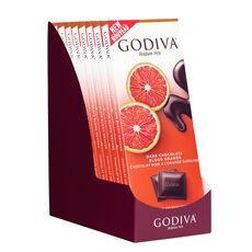 Dark Chocolate Blood Orange Bar, Set of 10, 90 gram Each