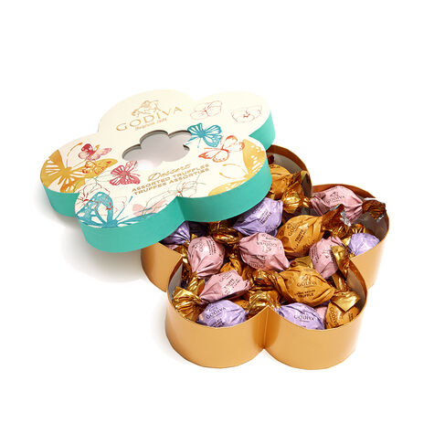 Chocolate Flower Gift Box, Individually Wrapped, 32 pc.