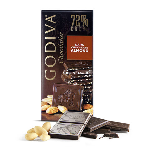 Dark Chocolate Almond Bar, 72% Cocoa, 3.5 oz.
