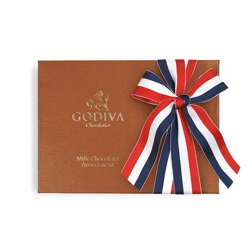 Milk Chocolate Assortment Gift Box, Patriotic Ribbon, 22 pc.