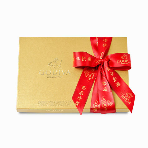Godiva Throw with Valentine's Day Assorted Chocolate Gold Gift Box, 36 pc.