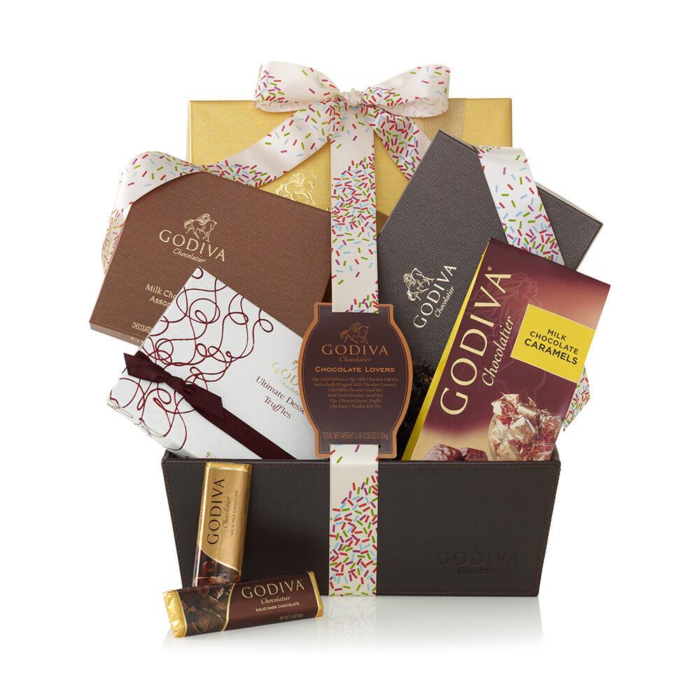 Chocolate Lover's Basket, Celebration Ribbon