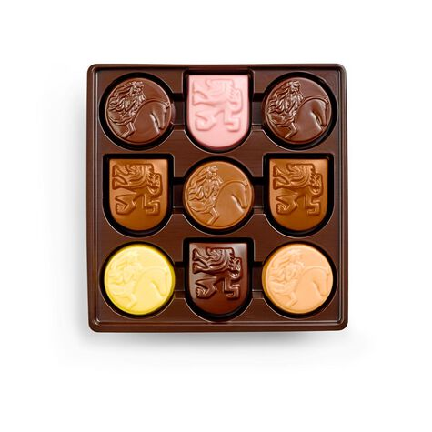 Limited Edition Assorted Chocolate Gold Icons Gift Box, 9 pc.