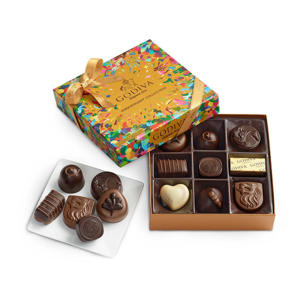 Assorted Chocolate Gift Box, 90th Anniversary, 9 pc.