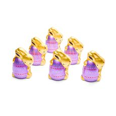 Dark Chocolate Foil Wrapped Bunny, Set of 12