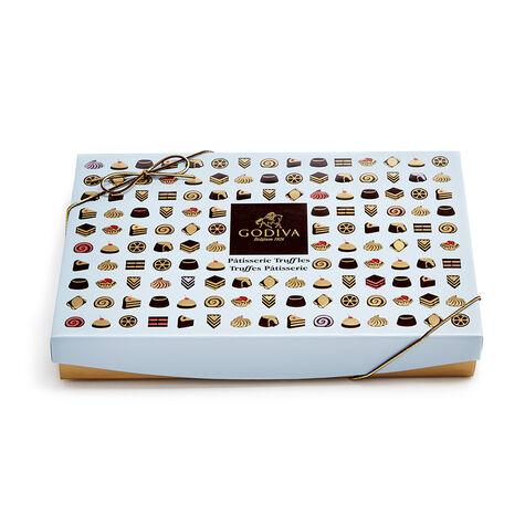 Gold Trim Bowls & Chocolate Patisserie Dessert Truffles Gift Set