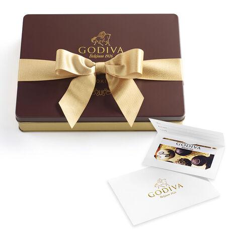 $25 Gift Card & Chocolate Cookie Tin, 32 pc.