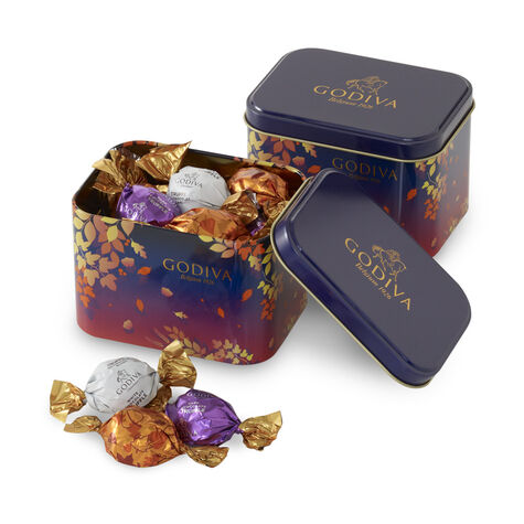 Wrapped Chocolates Fall Leaves Tin (Set of 2)