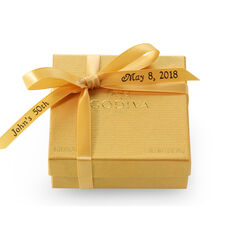 Assorted Chocolate Personalized Gold Ribbon, 4 pc.