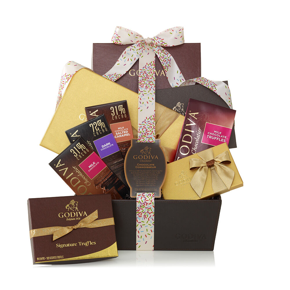 Chocolate Connoisseur Basket, Celebration Ribbon