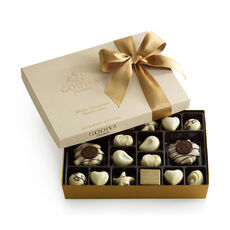 White Chocolate Assortment Gift Box, Classic Ribbon, 24 pc.
