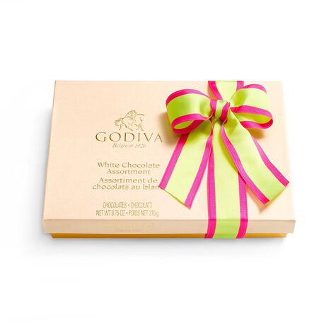 White Chocolate Assortment Gift Box, Limited Edition Ribbon, 24 pc.