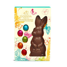 Eggstra Special Gift Box and Solid Milk Chocolate Bunny with Eggs