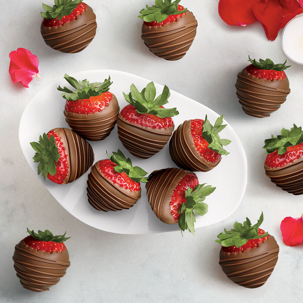 Milk Chocolate Covered Strawberries, Dozen