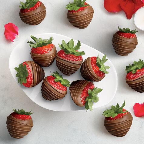 Milk Chocolate Covered Strawberries, Dozen