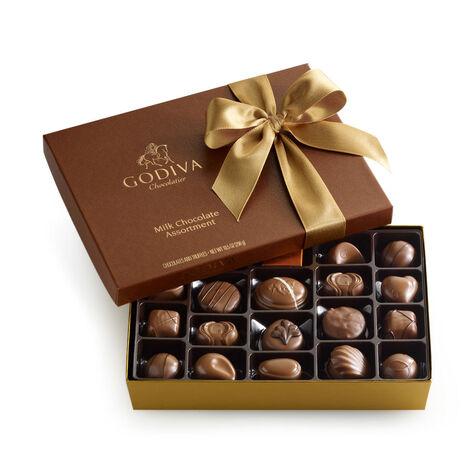 Milk Chocolate Assortment Gift Box, Classic Ribbon, 22 pc.