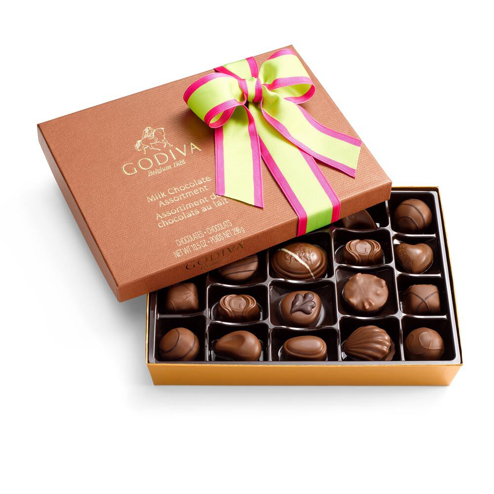 Milk Chocolate Gift Box, Limited Edition Ribbon, 22 pc.