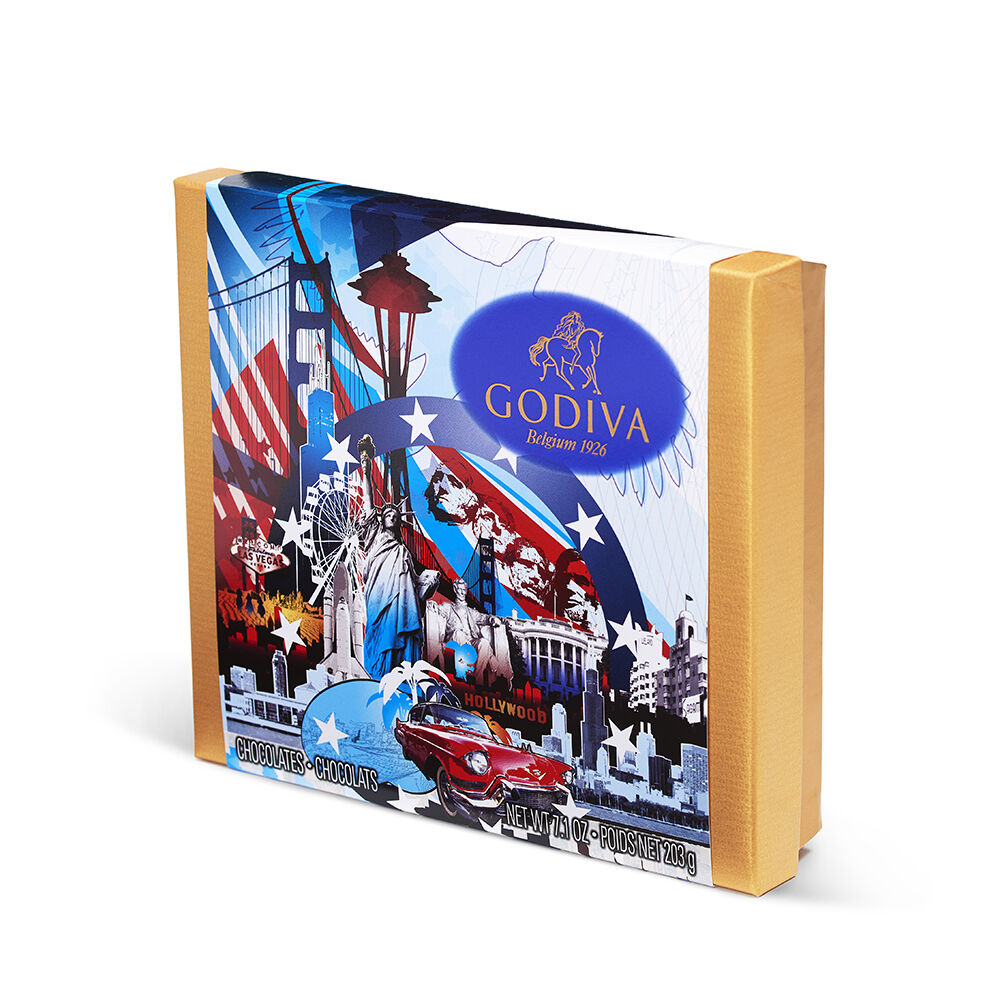 Assorted Chocolate Souvenir Gift Box, USA, 19 pc.