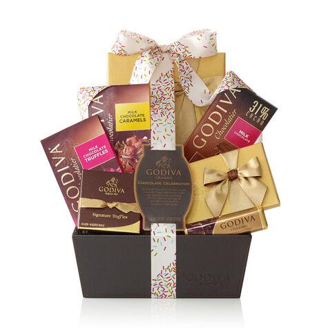 Chocolate Celebration Gift Basket, Celebration Ribbon
