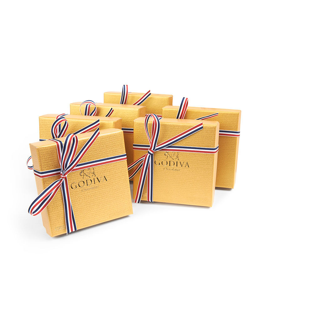 4 pc Gold Favor (Set of 6) - Patriotic Ribbon