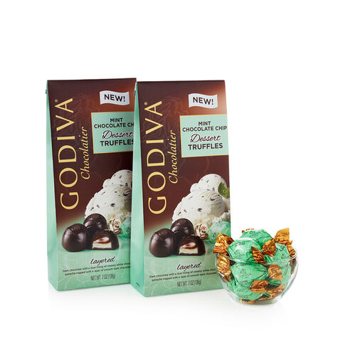 Wrapped Mint Chocolate Chip Dessert Truffles (Set of 2)