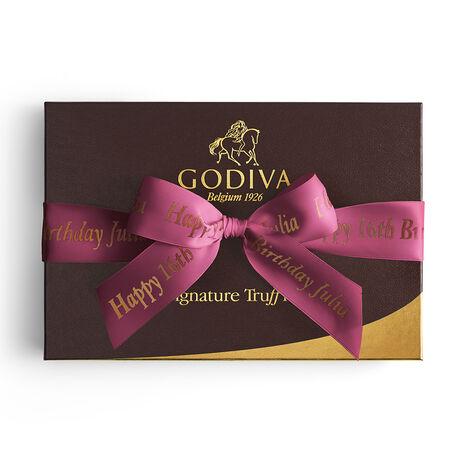 Signature Truffles Gift Box, Personalized Wine Ribbon, 24 pc.