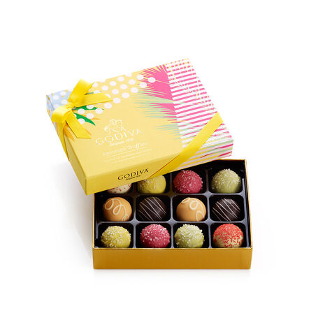 8 pc. Gold Ballotin & 12 pc. Assorted Summer Truffle Gift Set