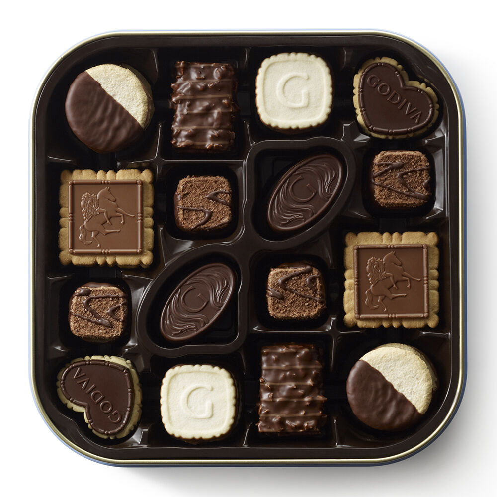 Chocolate Biscuit Tin, 50 pc.