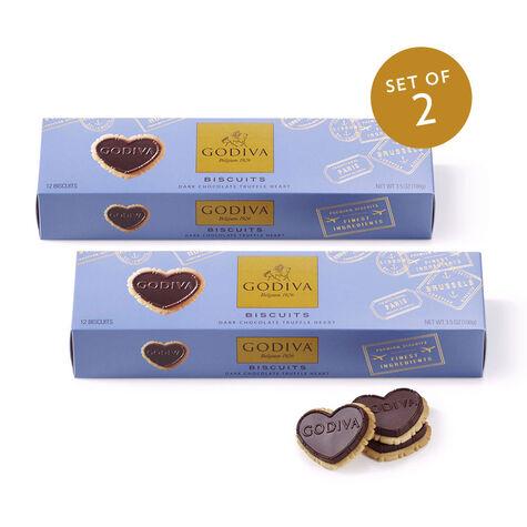 Strawberry Milk Chocolate Biscuits, Set of 2
